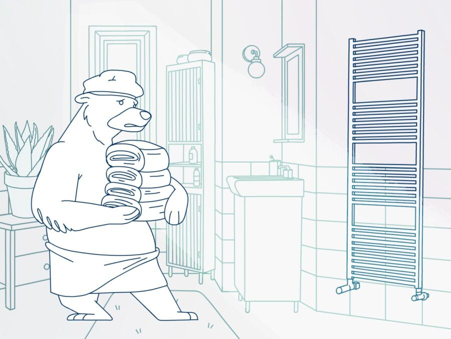 Linea_handy_animation_characters_racoon_commercial_1